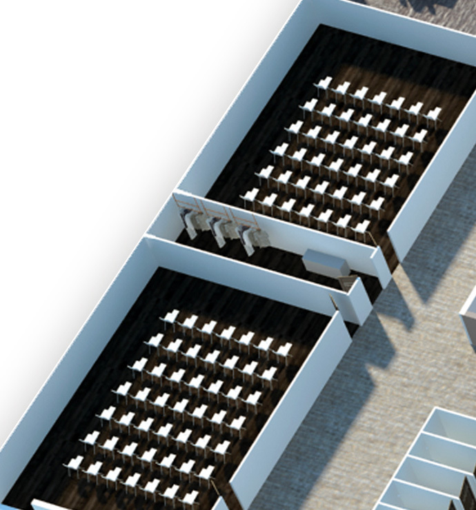 Stateroom, assembly room