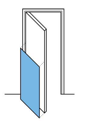 Half-height-door-protection